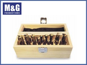 20-Piece TiN Coated End Mill Set